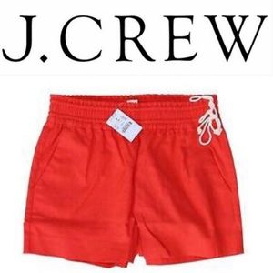 J. Crew Factory Pull On Linen Blend Shorts Coral